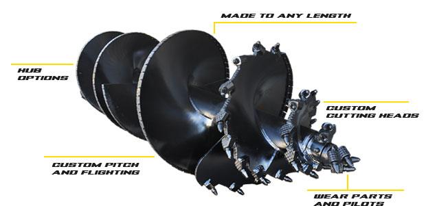 Digga North America Machinery Attachments: Custom Augers