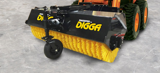 Commercial Grade Sweeper Broom Solutions for Skid Steer Loaders - Digga North America