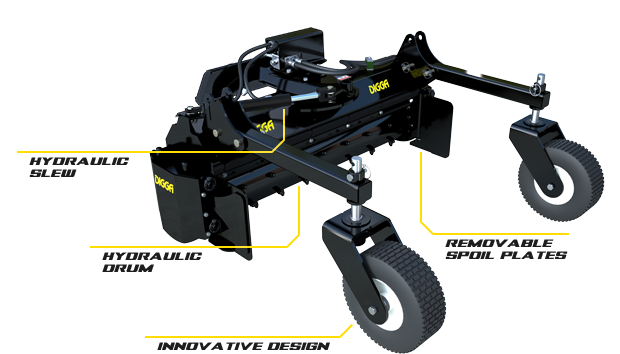 Digga North America Machinery Attachments: Soil Conditioner