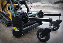 Mini loader with a Digga Mini Soil Conditioner.