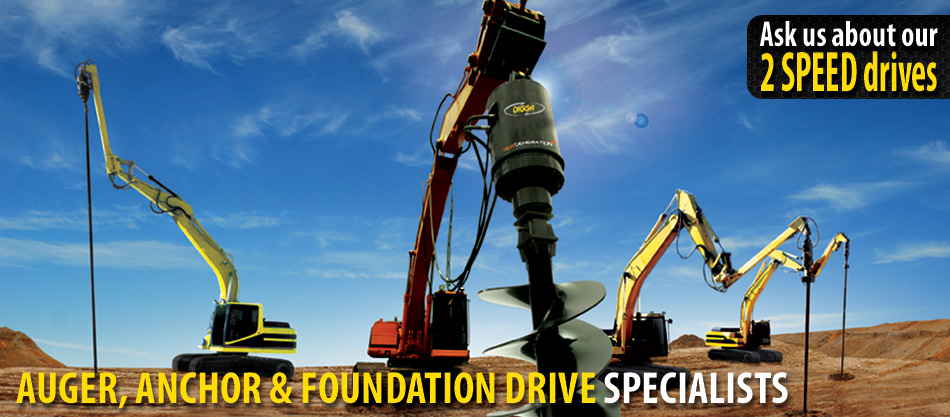 Digga North America, Auger, Anchor & Foundations Drive Specialists. Ask us about our 2 speed drives.