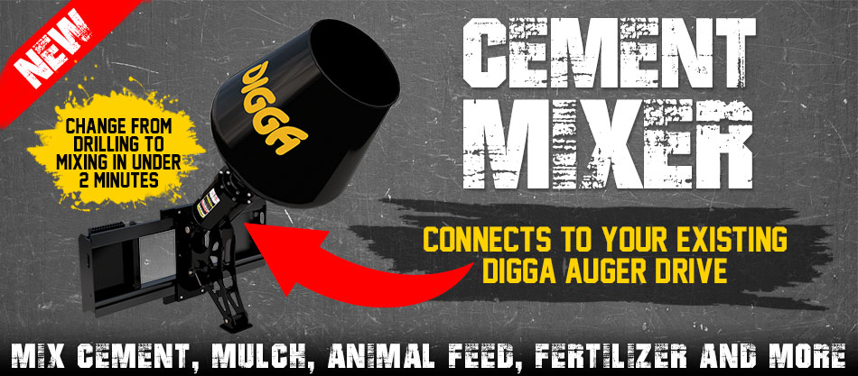 Digga North America, Auger, Anchor & Foundations Drive Specialists. Ask us about our cement mixer.