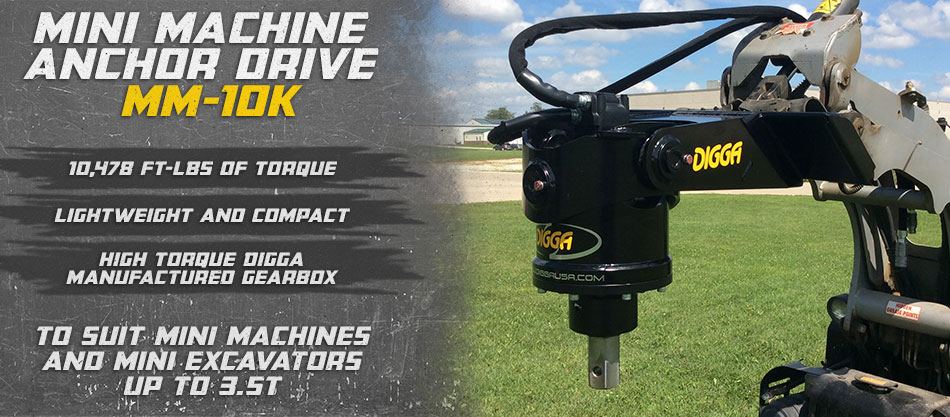 Digga North America, Auger, Anchor & Foundations Drive Specialists. Ask us about our MM-10K drive.