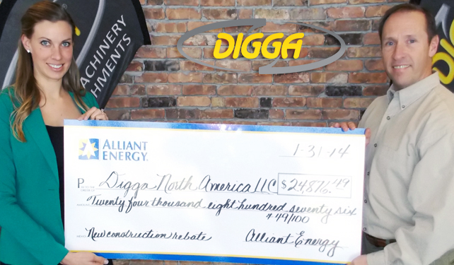Digga North America - Partnering with Alliant Energy on Energy Efficient Equipment